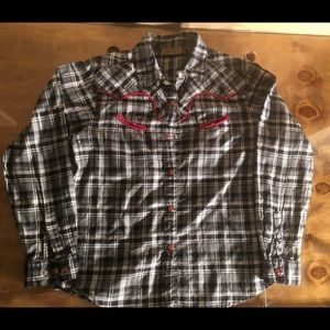 Wrangler Black And White Shirt XL Girls